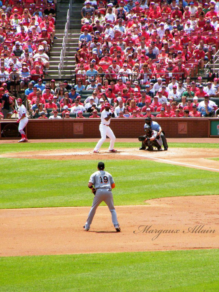 Baseball match St-Louis Missouri Busch Stadium