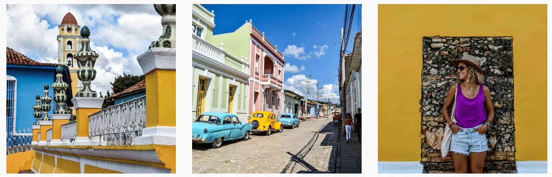 Trois paysages de carte postale pris à Cuba