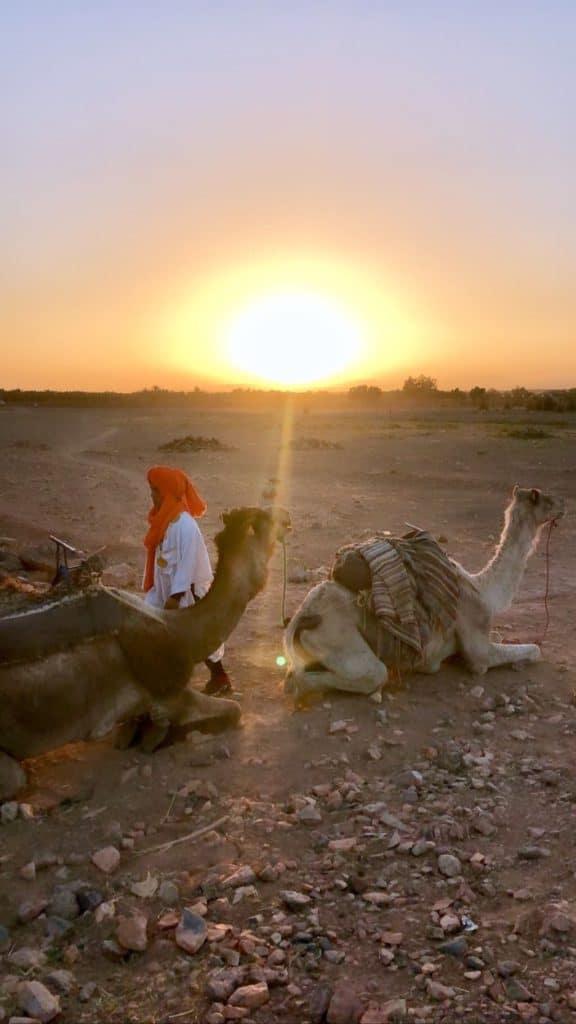 Photo du désert, paysage au Maroc