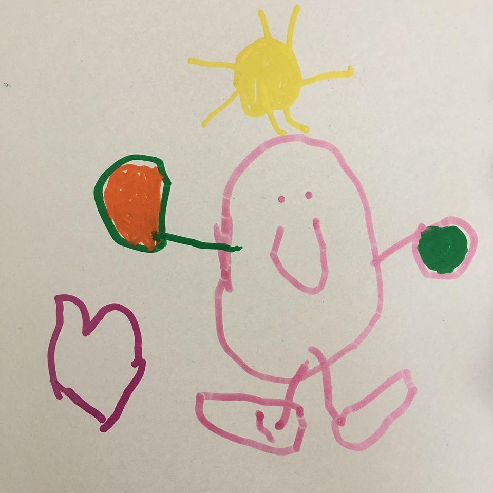 Dessin d'enfant pour la Fête des Mères par Nicole Hebrard Pevet