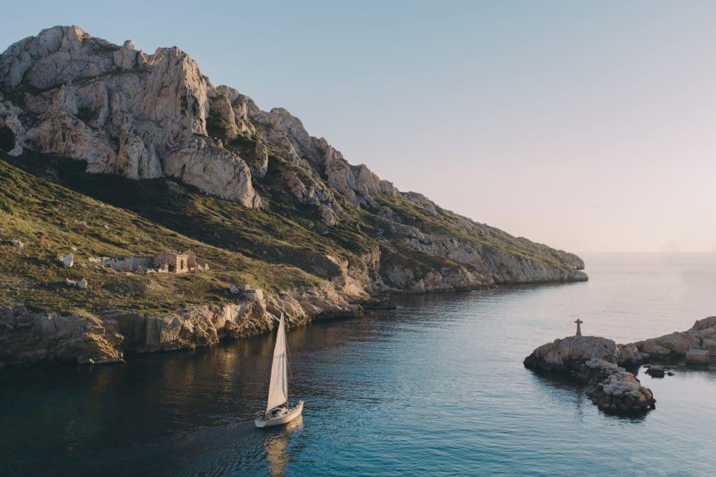 Paysage de carte postale pour des vacances à Marseille, en France