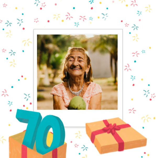 carte anniversaire 70 ans cadeau