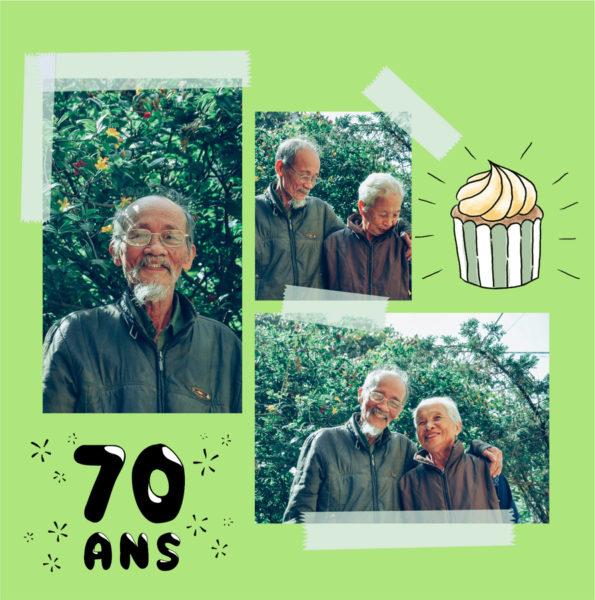 anniversaire 70 ans cupcake