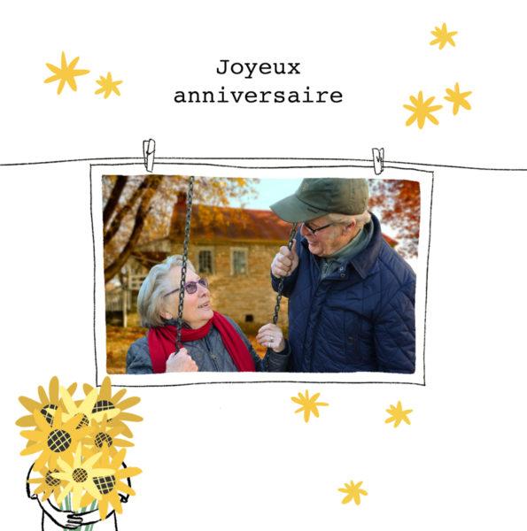 carte anniversaire 70 ans