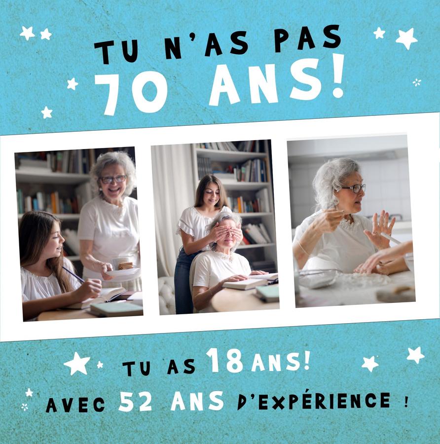 Carte Anniversaire 70 Ans Personnalisee Pour Lui Faire Plaisir Fizzer