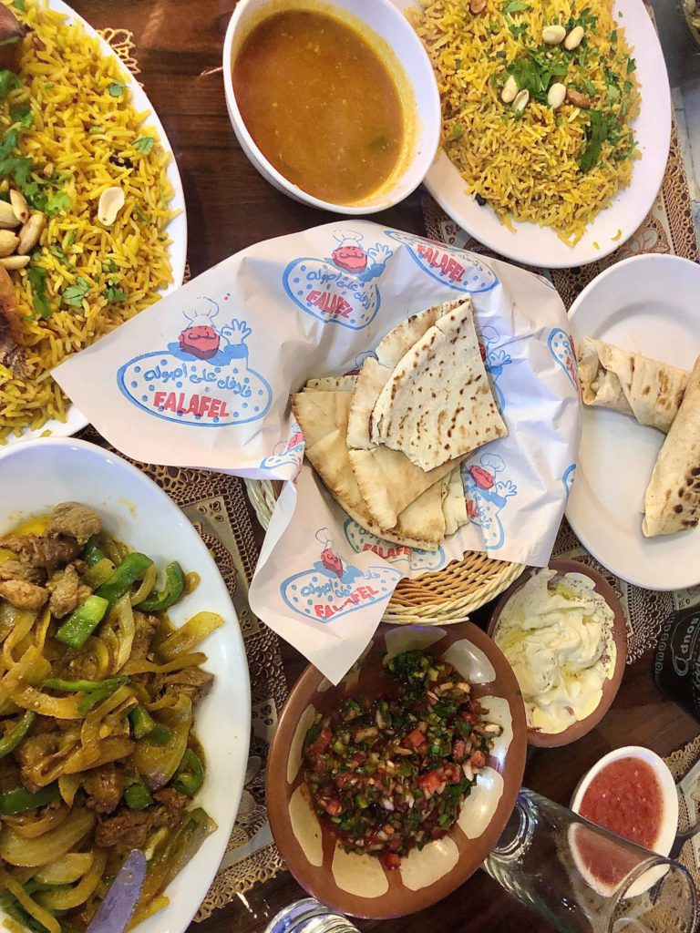 Plats du restaurant Al-Mehbash