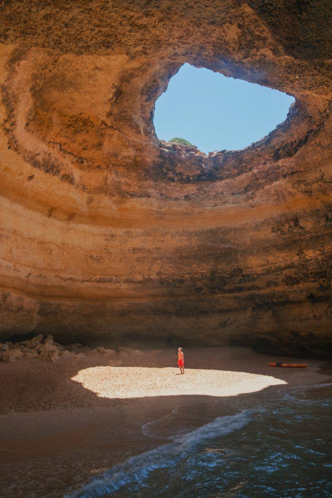 Formation rocheuse Algar de Benagil Algarve Sud du Portugal
