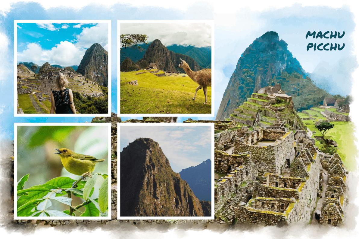 Carte postale personnalisée du Machu Picchu, Pérou