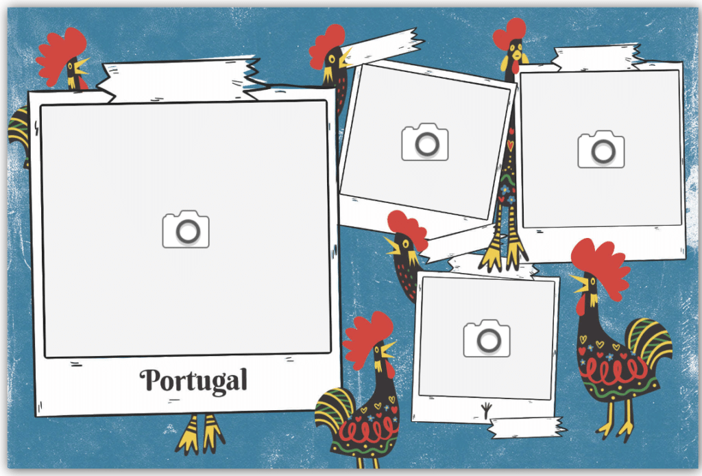 Carte postale coq portugal