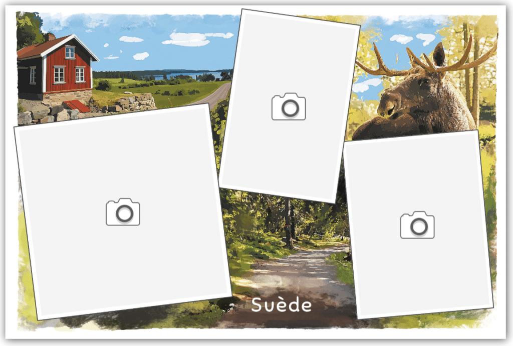 Carte postale de Suède