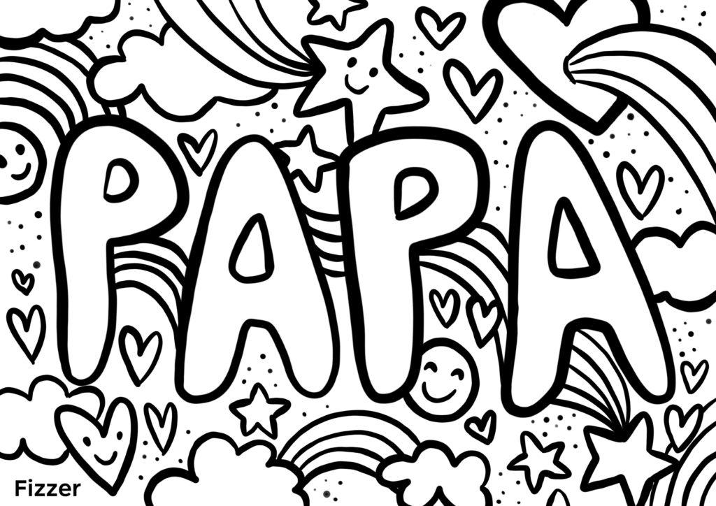 Coloriage Fete des Peres Papa