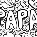 Coloriage papa pour fete des peres