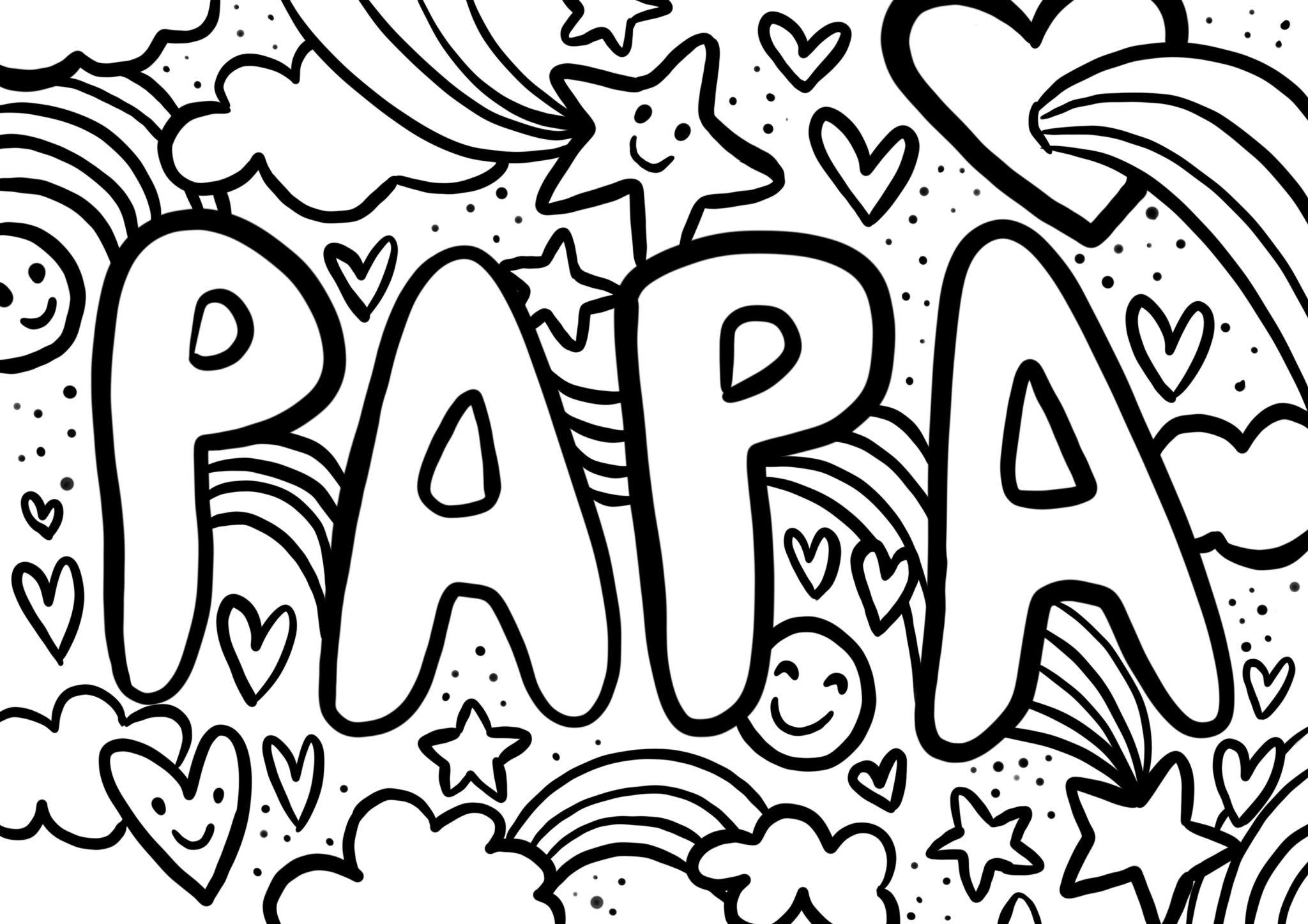 [Gratuit] 4 Coloriages Fête des Pères pour lui faire plaisir