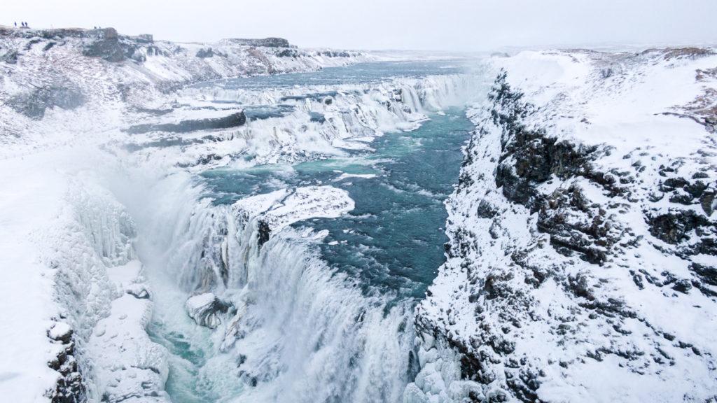 Gullfoss cascade d'or en Islande