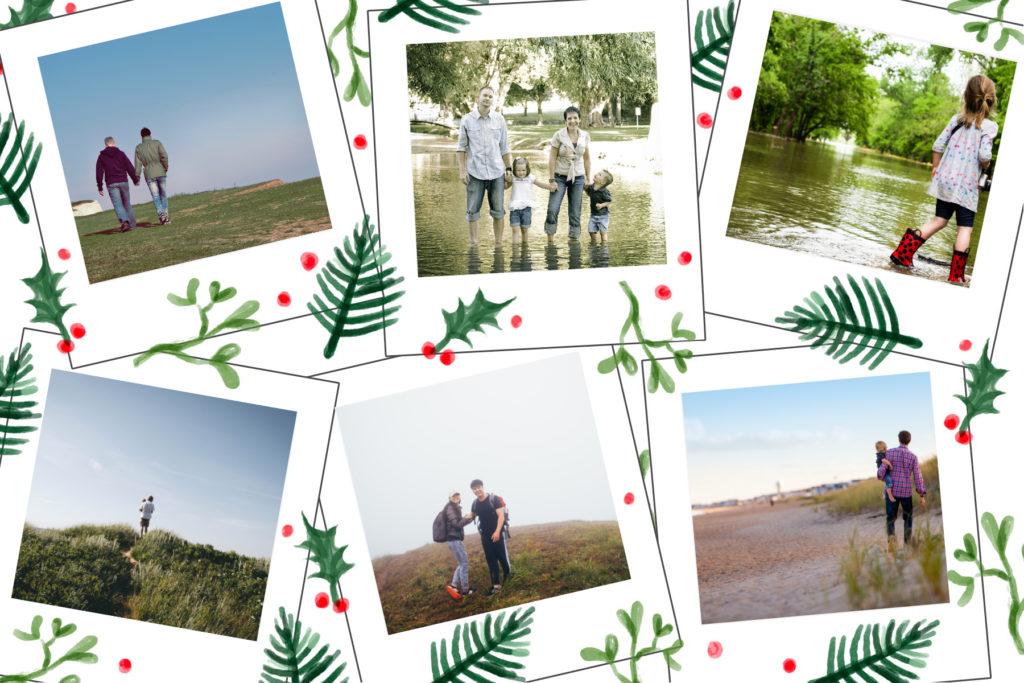 carte personnalisee six photos houx bonne annee 2020