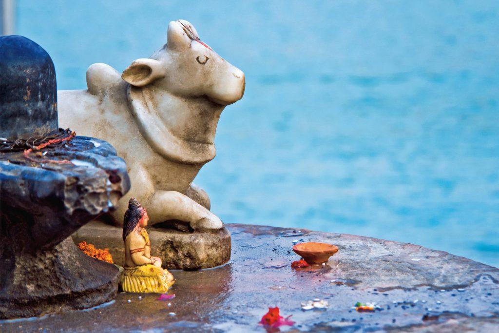 Statuettes religieuses, Rishikesh, Inde