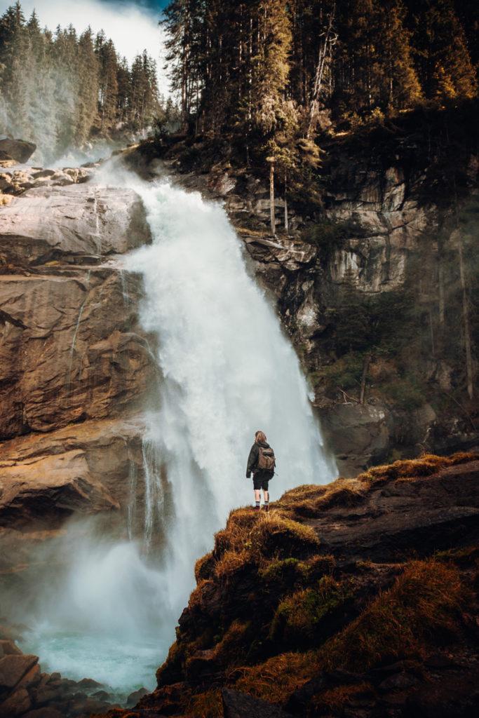 Cascade de Krimml en Autriche