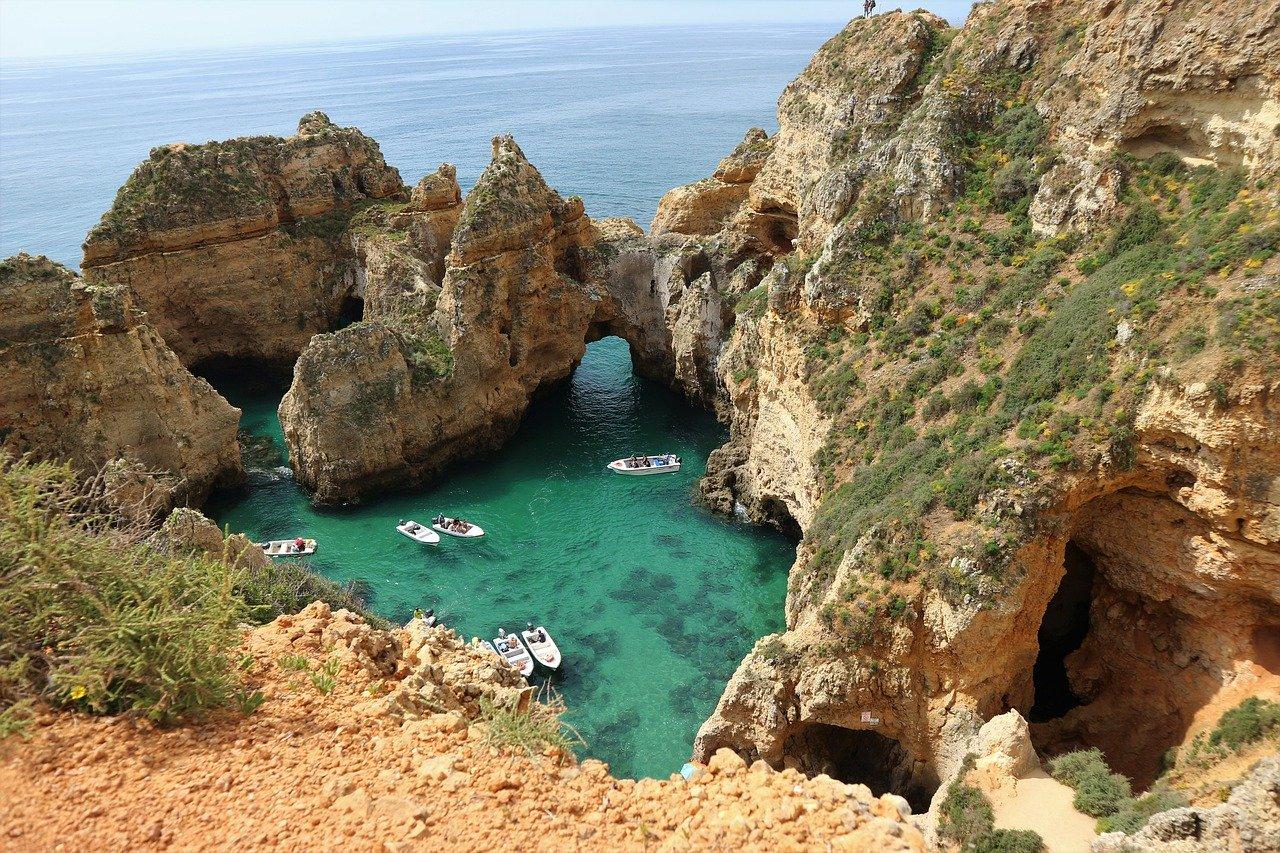 Falaises Ponta de Piedade Algarve Portugal