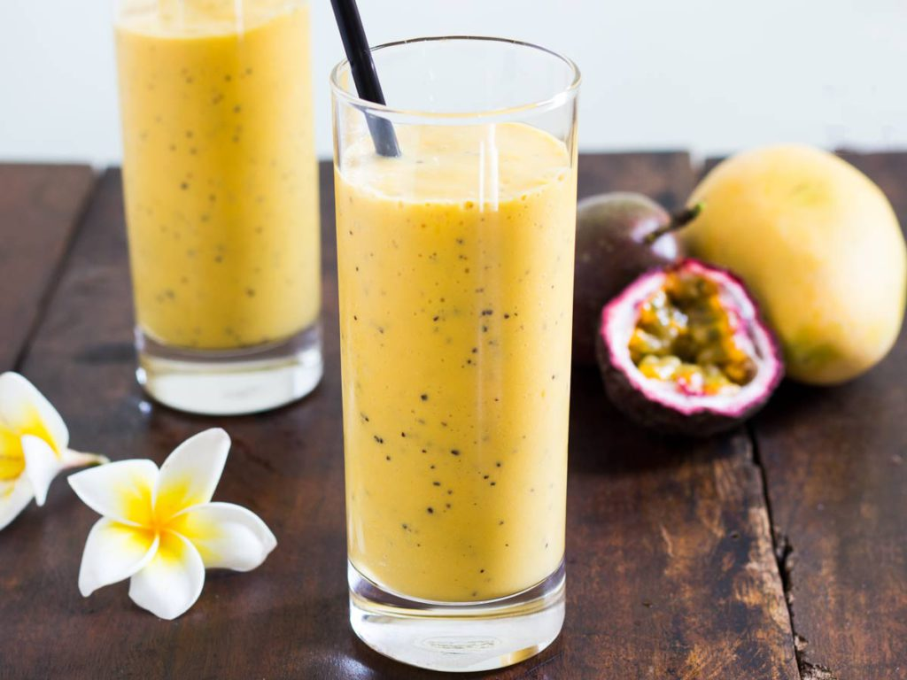 smoothie mangue fruit de la passion