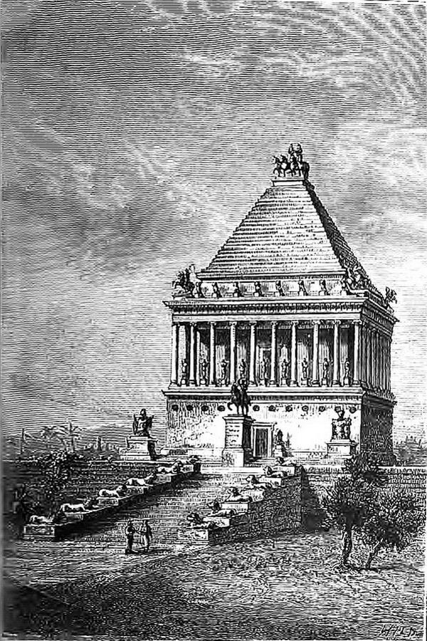 Tombeau de Mausole Halicarnasse 7 merveilles du monde antique
