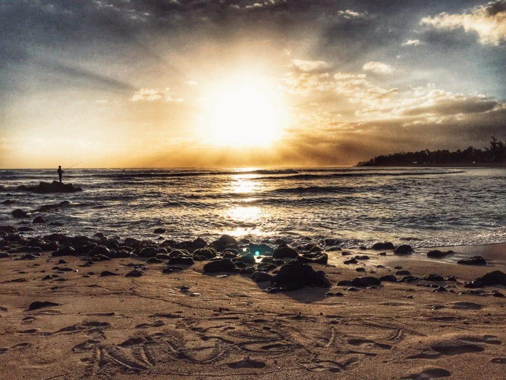 Coucher de soleil aux Trois Bassins à La Réunion