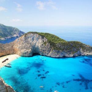Plage de rêve à Zante en Grèce, îles ioniennes