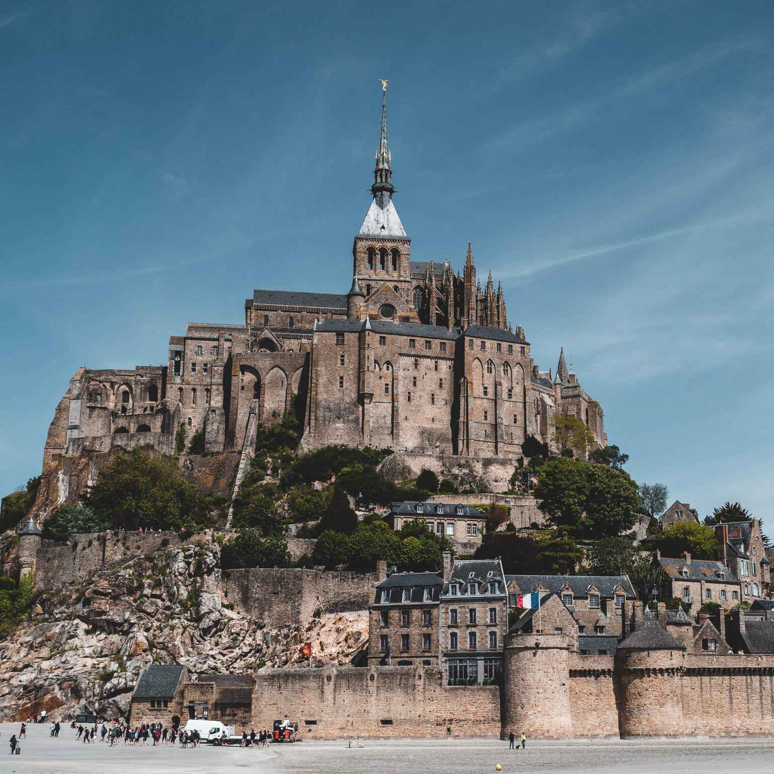a postcard from mont saint michel
