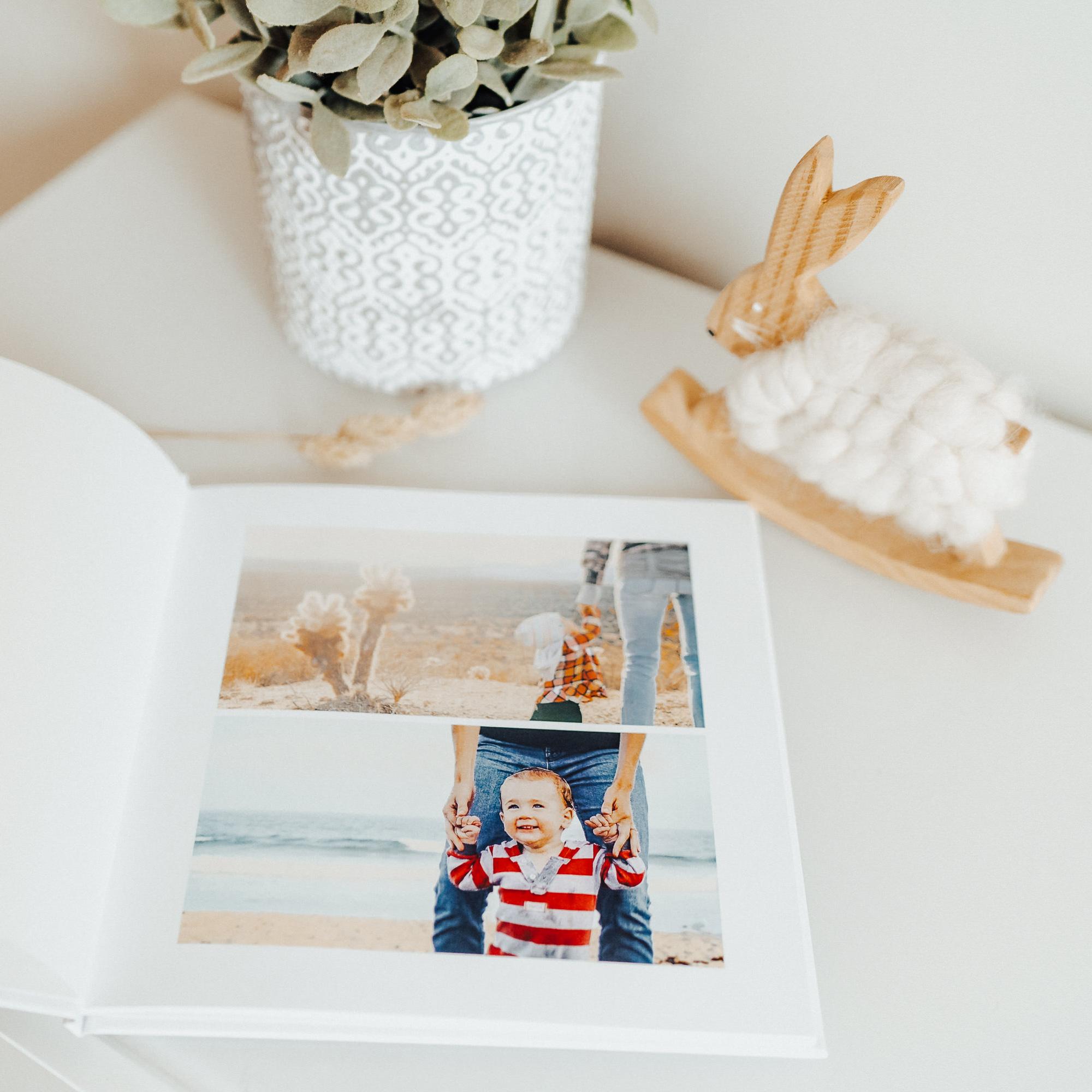 Album photo bebe en vacances avec parents