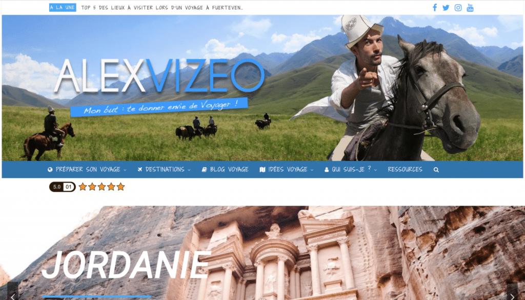 Accueil du blog voyage de Alex Vizeo