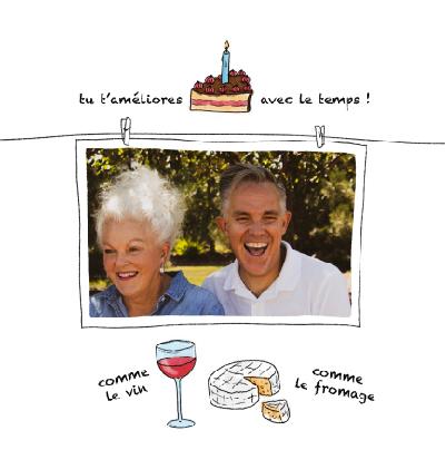 carte anniversaire humour tu tameliores avec le temps