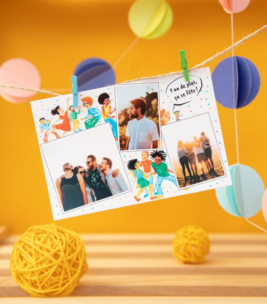 carte anniversaire 1 an de plus ça se fête