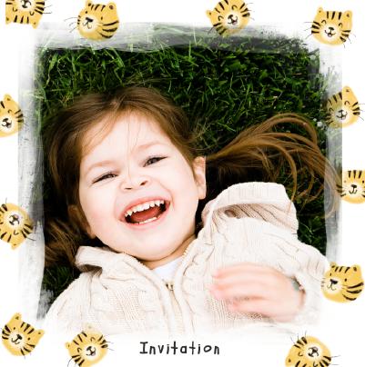 invitation anniversaire fille tigres
