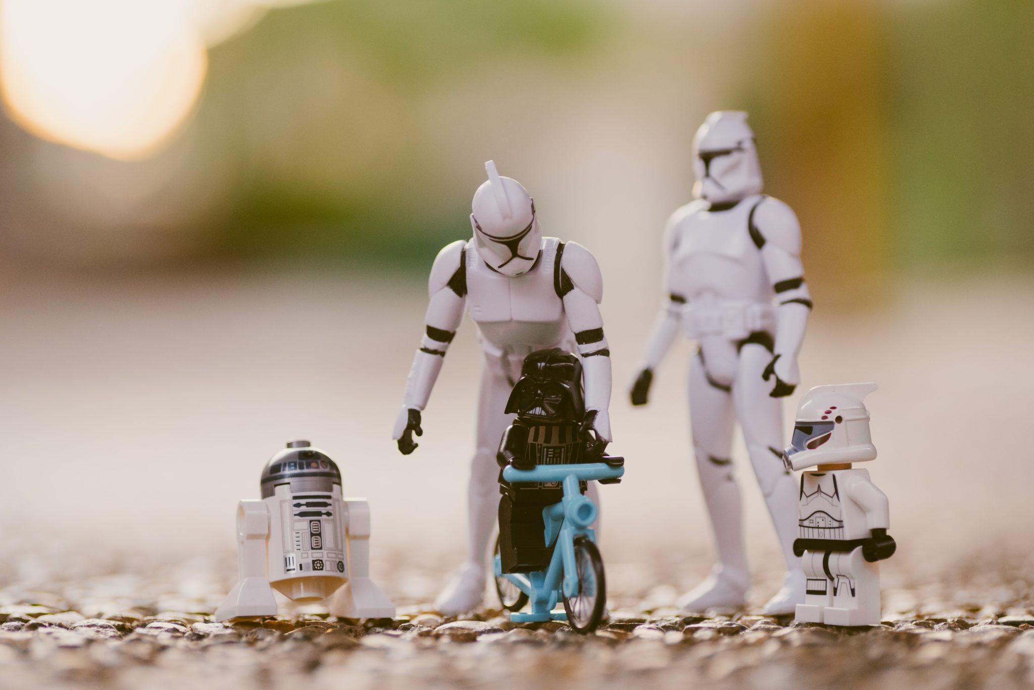 Famille star wars storm trooper