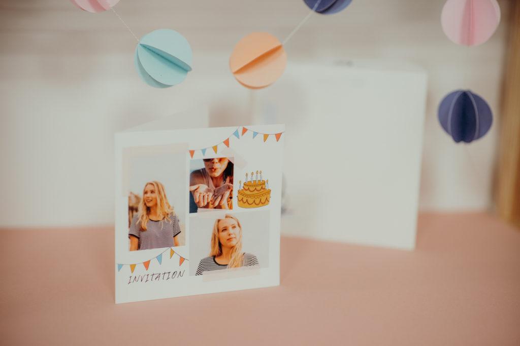 invitation originale anniversaire fille