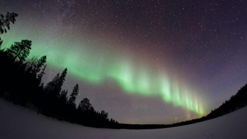 Aurore boreale en laponie