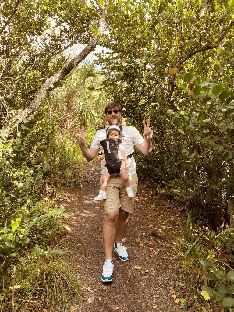 Baptiste de Fizzer et sa fille dans les Everglades aux Etats-Unis