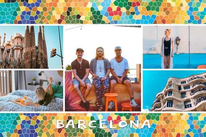 carte barcelone avec mosaique gaudi