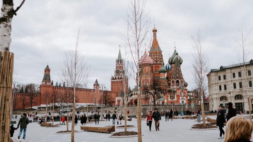 Basilique orthodoxe a Moscou en Russie