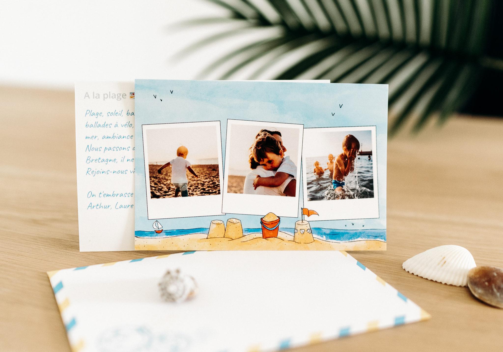 carte postale personnalisee vacances a la mer