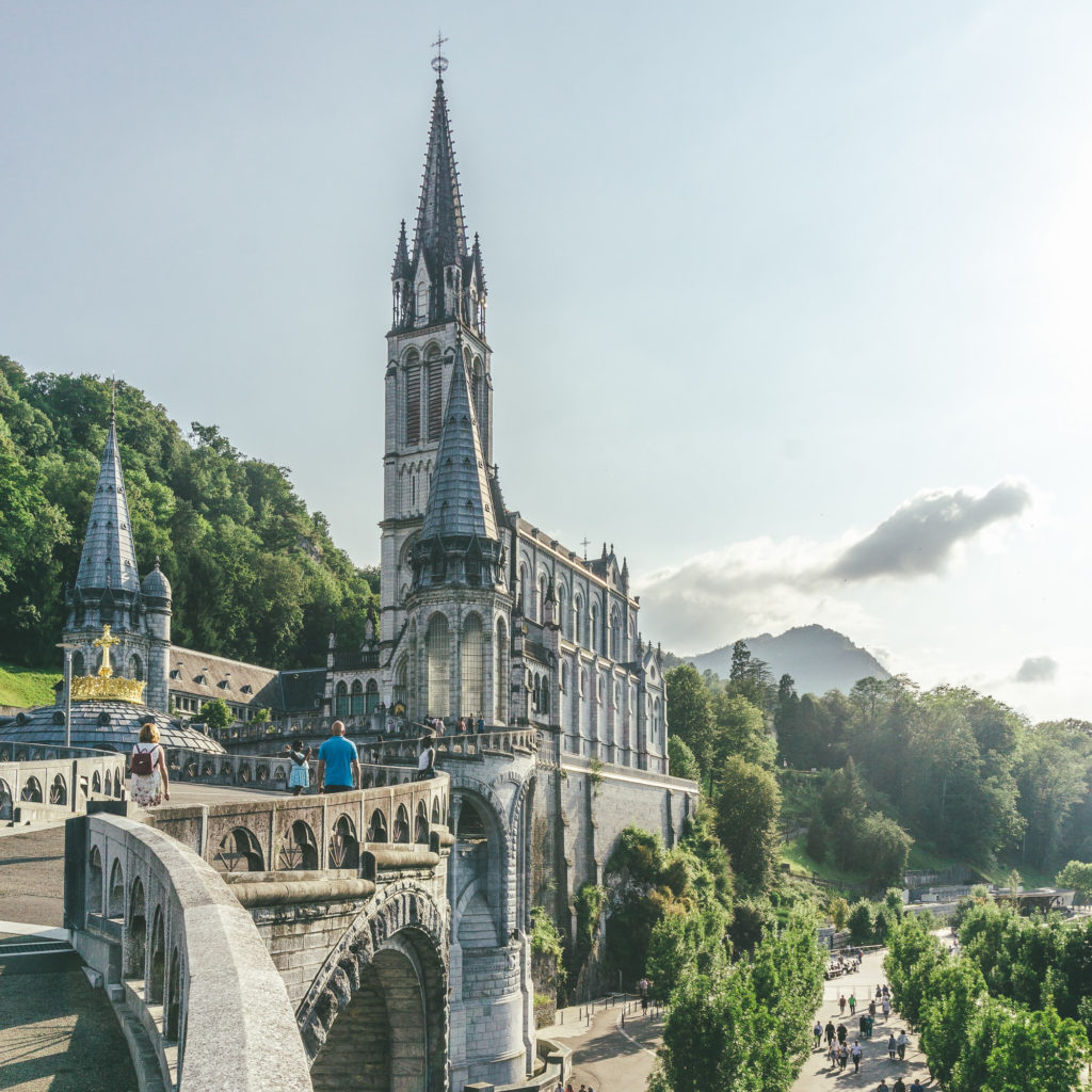 postcard from lourdes