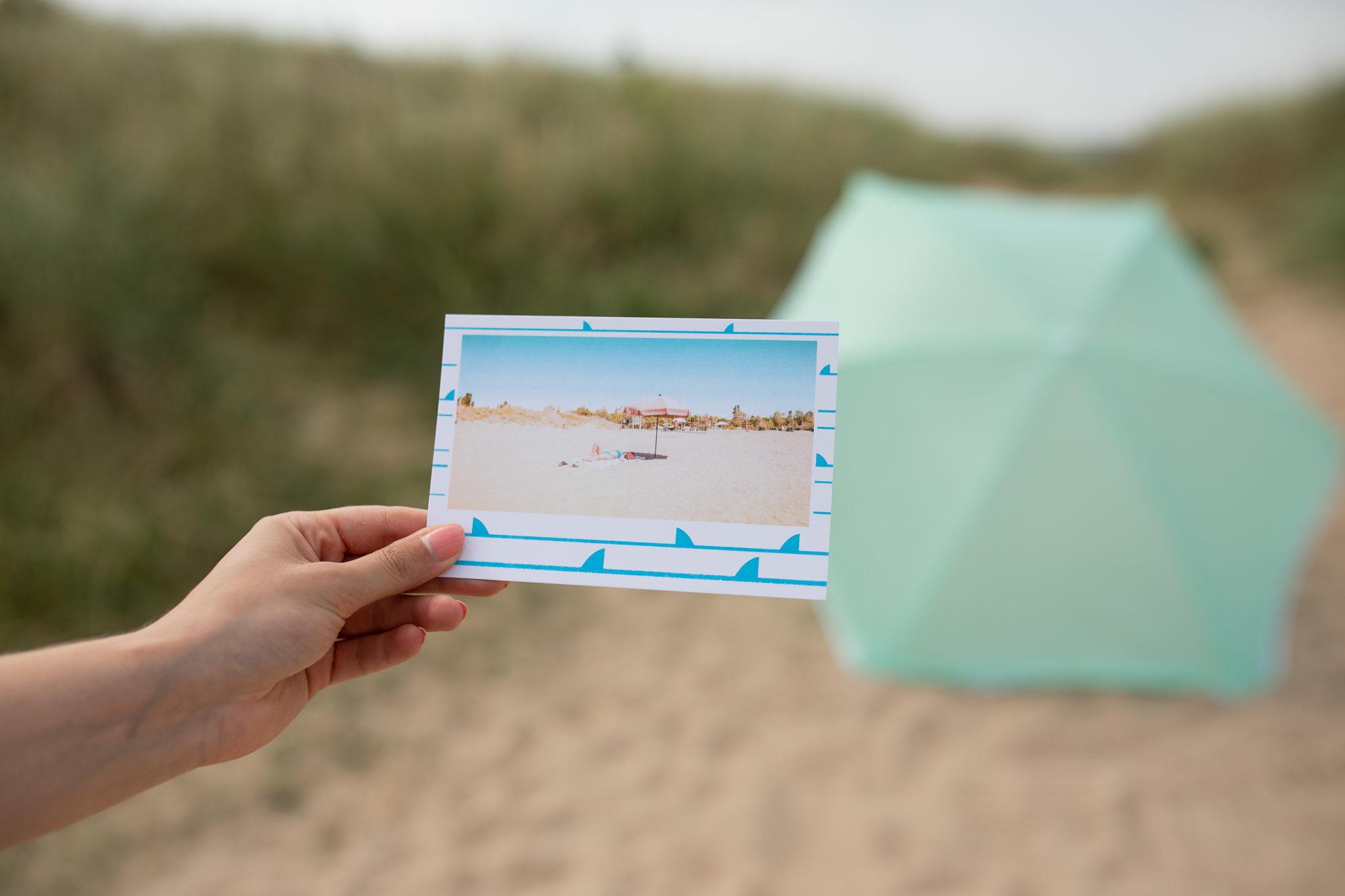 plage nouvelle aquitaine carte postale