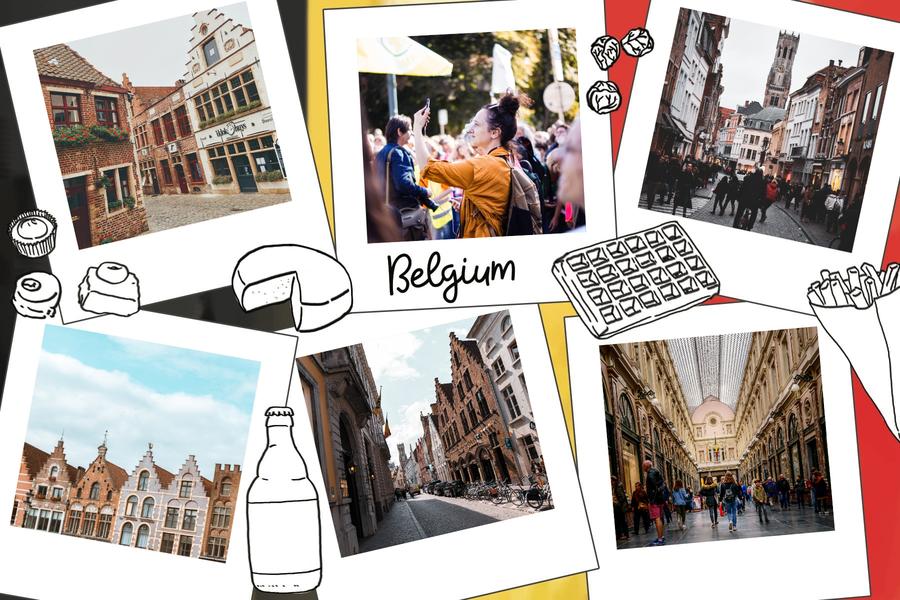 belgium-food-postcard