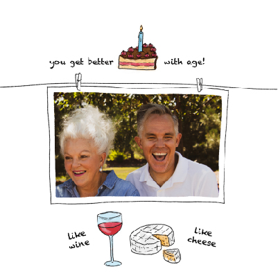 funny card you get better with age