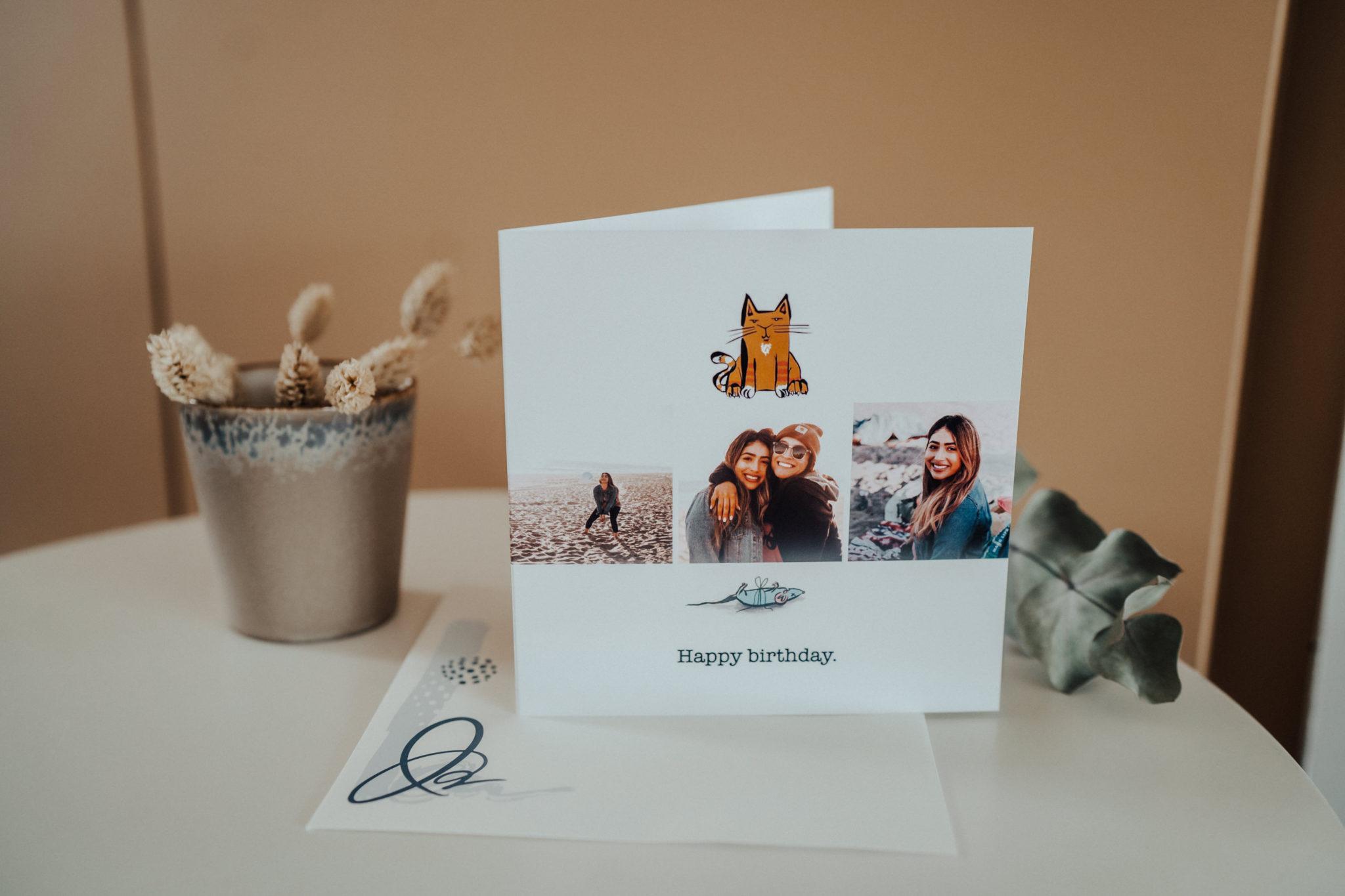 carte anniversaire filles chat souris