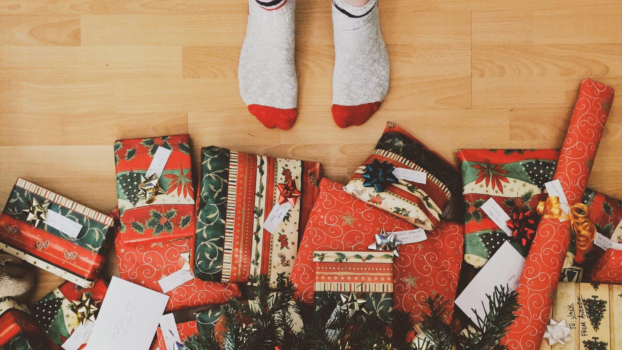 chaussettes sapin cadeau de noel homme