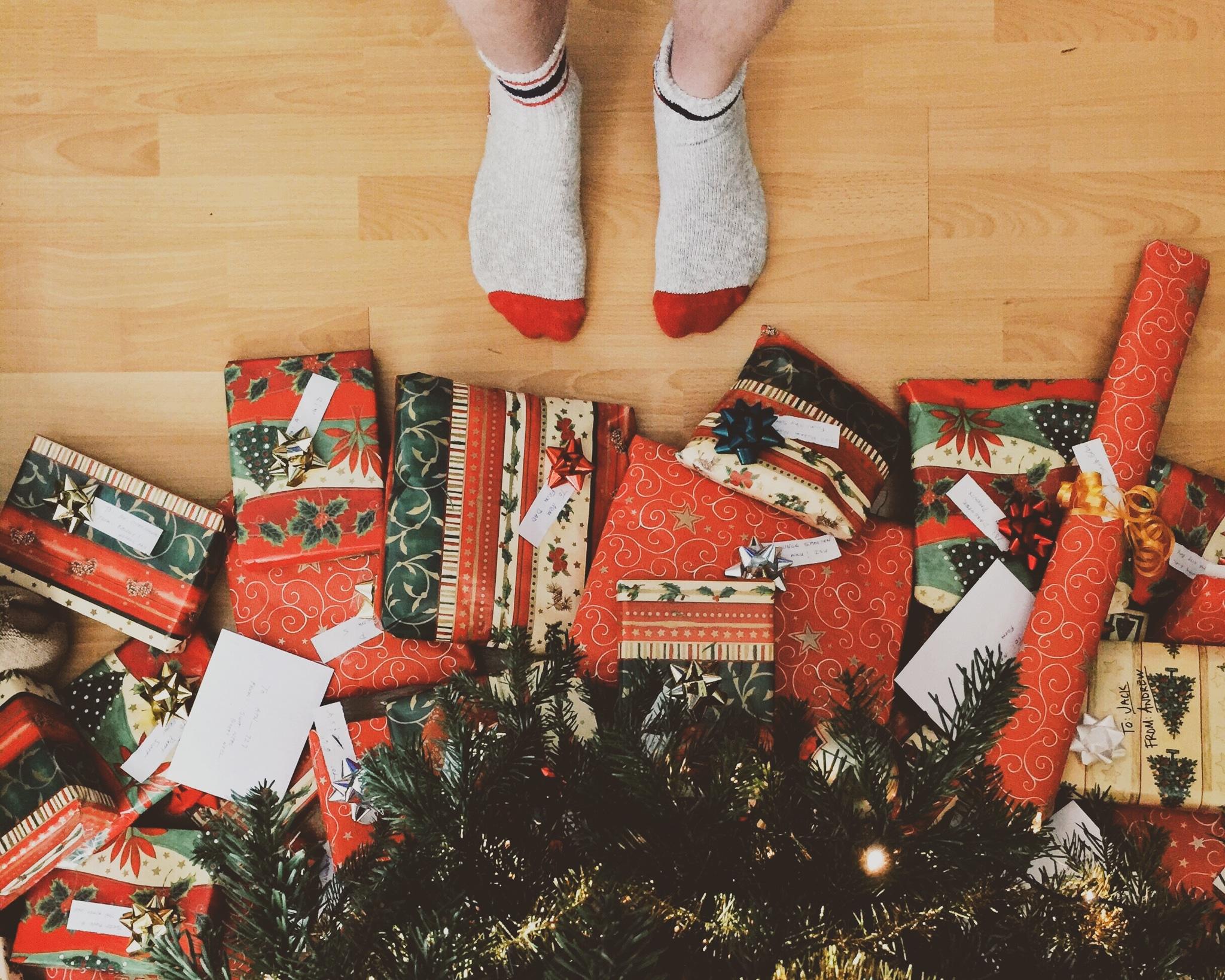 chaussettes sapin cadeau de noël homme
