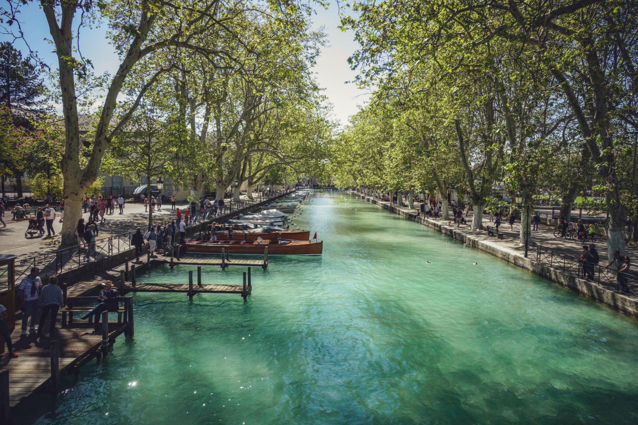Canaux de la ville d'Annecy