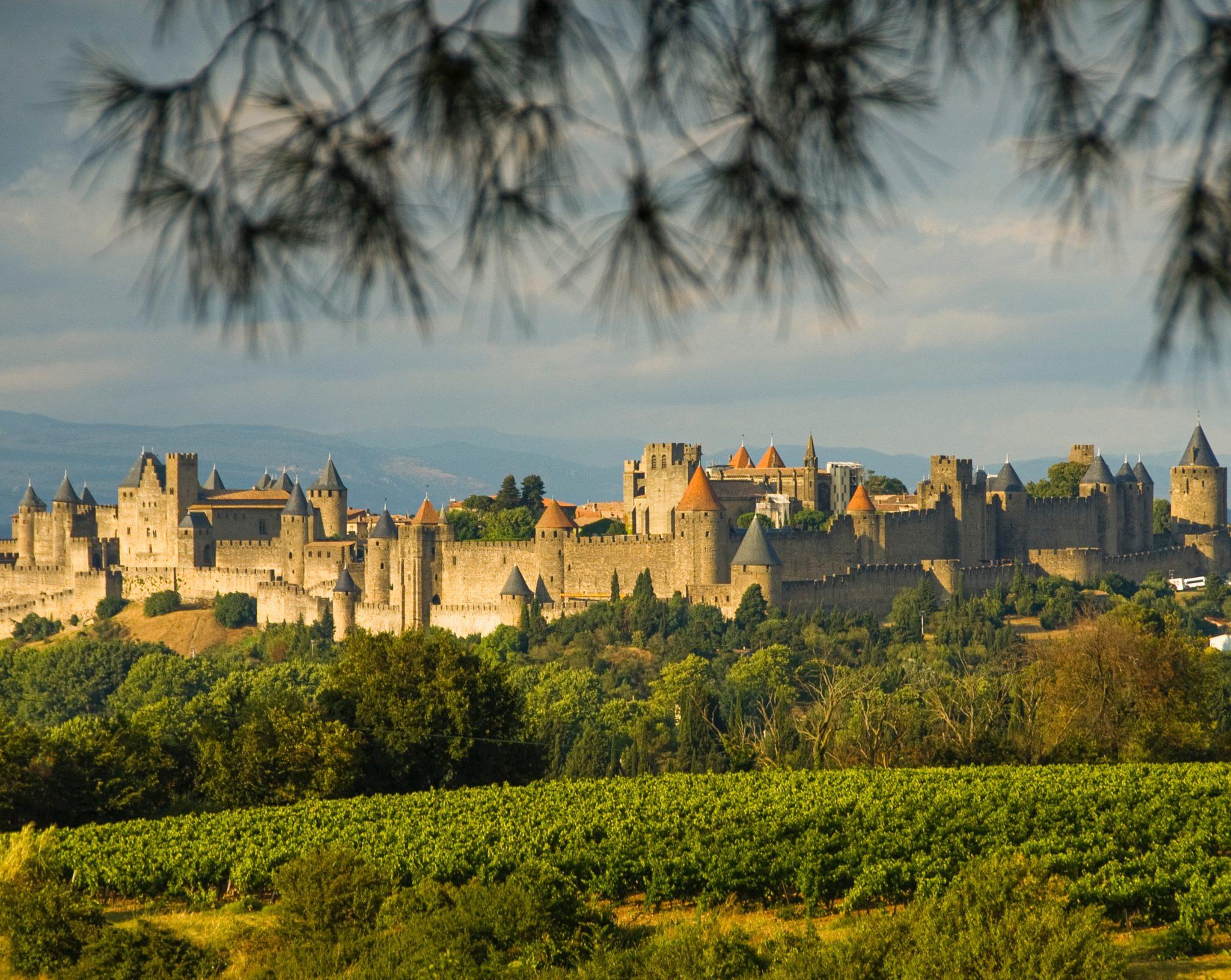 Cite de Carcassonne en France