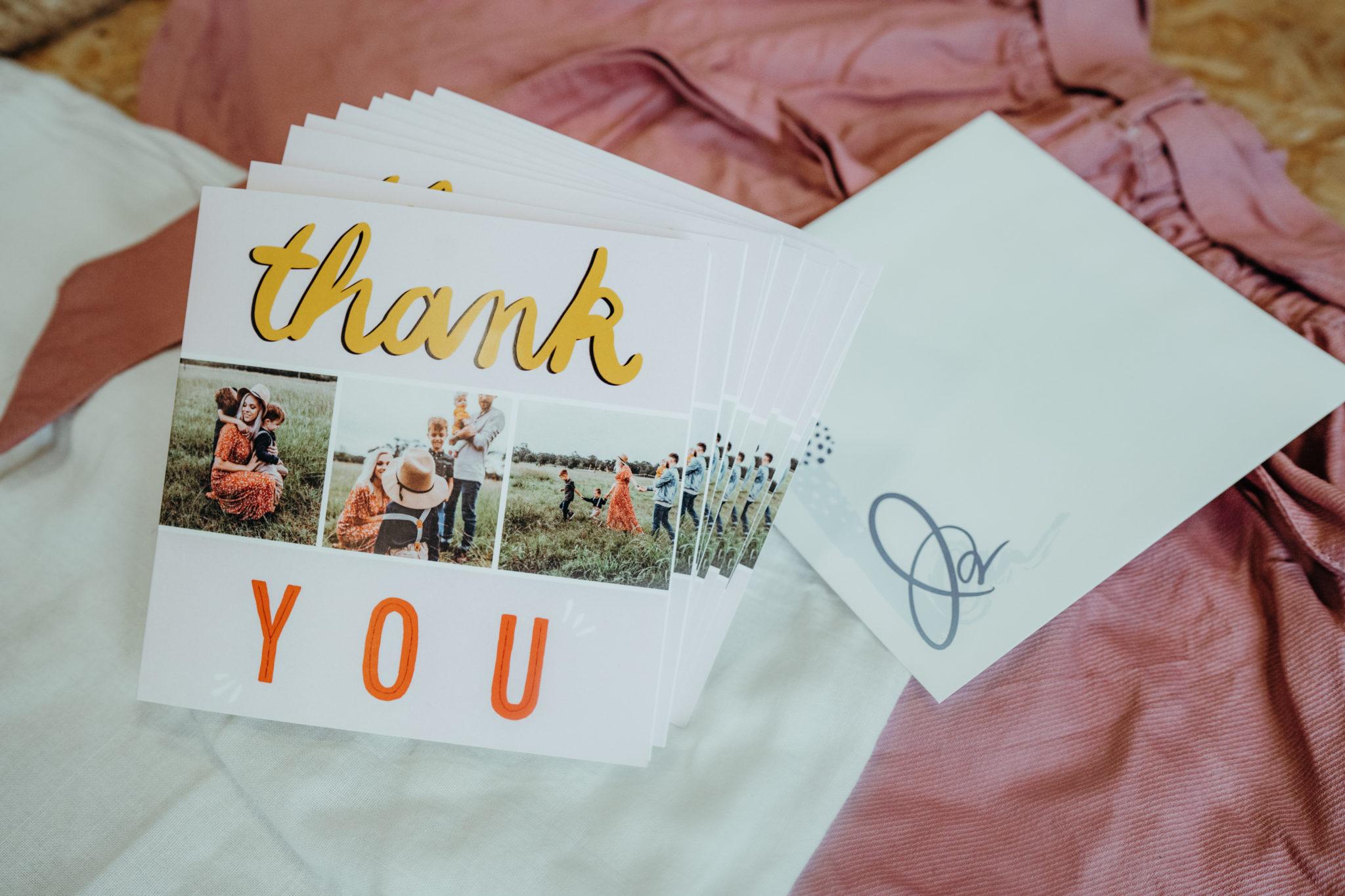 carte de remerciements pour anniversaire