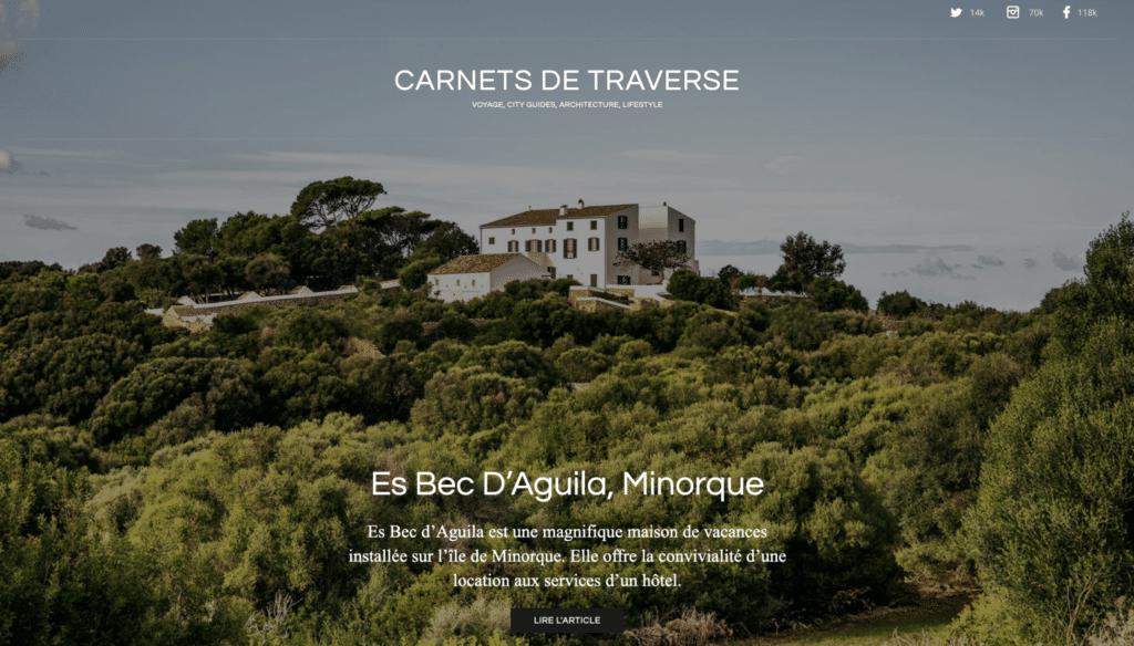 Accueil du blog voyage Carnets de Traverse